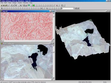 3D DEM and Image Drape